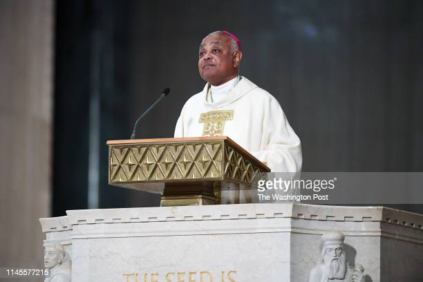 Archbishop Wilton Gregory gives a homily during his installation as the seventh Archbishop of Washington at the Basilica of the National Shrine of...