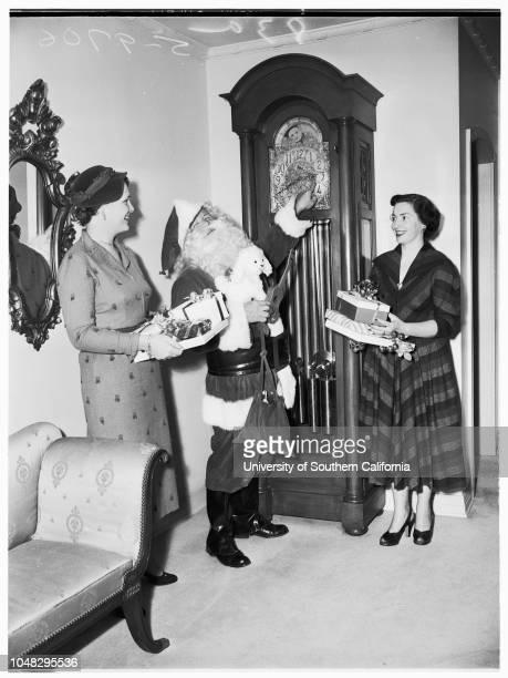 Archbishop's Christmas party 19 November 1952 Mrs Doyle McDonaldJimmy GarrigleArchbishop J Francis A McIntyreMrs Arthur Powell WilliamsMiss Cass...