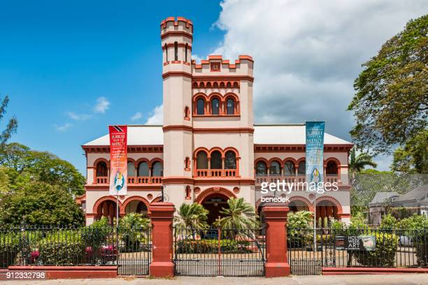 archbishop's house in port of spain trinidad and tobago - port of spain stock photos and pictures