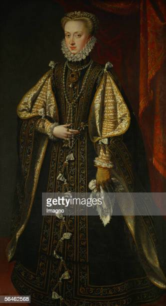 Archduchess Anna of Austria Queen of Spain At age 21 she became the fourth wife of her uncle King Philip II who was 22 years her senior [Erzherzogin...