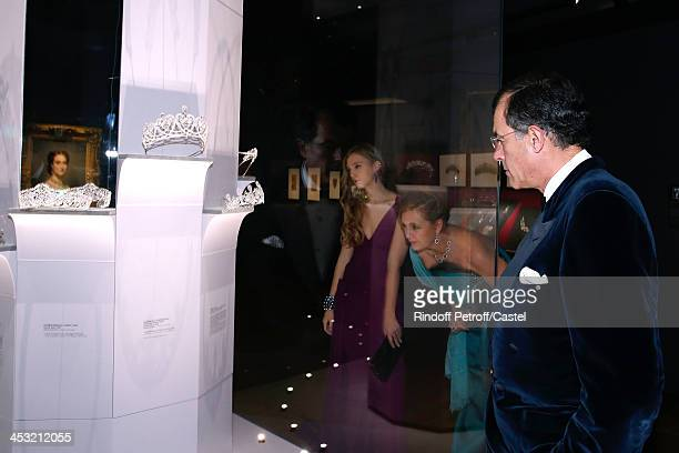 Archduchess Eleonore Von Habsburg her daughter Princess Francesca Von Habsburg and Henri Giscard d'Estaing attend the 'Cartier Le Style et...