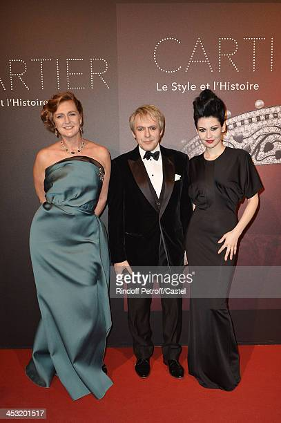 Archduchess Eleonore Von Habsburg Nick Rhodes and his wife Nefer Suvio attend the 'Cartier Le Style et L'Histoire' Exhibition Private Opening at Le...