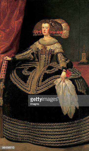 Archduchess Maria Anna Queen of Spain : Wife of Ferdinand III. And mother of Leopold I. Oil on Canvas by Velazquez Diego de Silva, 204 : 126,5 cm,...