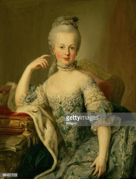 Archduchess Maria Josepha of Austria daughter of Francis I, Holy Roman Emperor and Maria Theresa of Austria, Holy Roman Empress . Painting by Martin...
