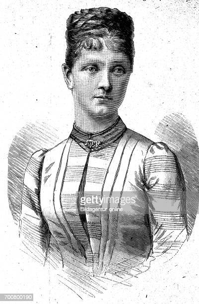Archduchess Maria Theresa of Austria born 1862 Woodcut from 1892