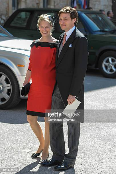 Archduchess Marie Christine of Austria Countess of LimburgStirum and Count Rodolphe de LimburgStirum attend the Religious Wedding Of Prince Felix Of...