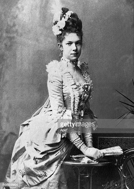 Archduchess Marie Valerie of Austria Hungary daughter of the emperor of Austria Franz Josef I, photographied between 1885 and 1900, extracted the...