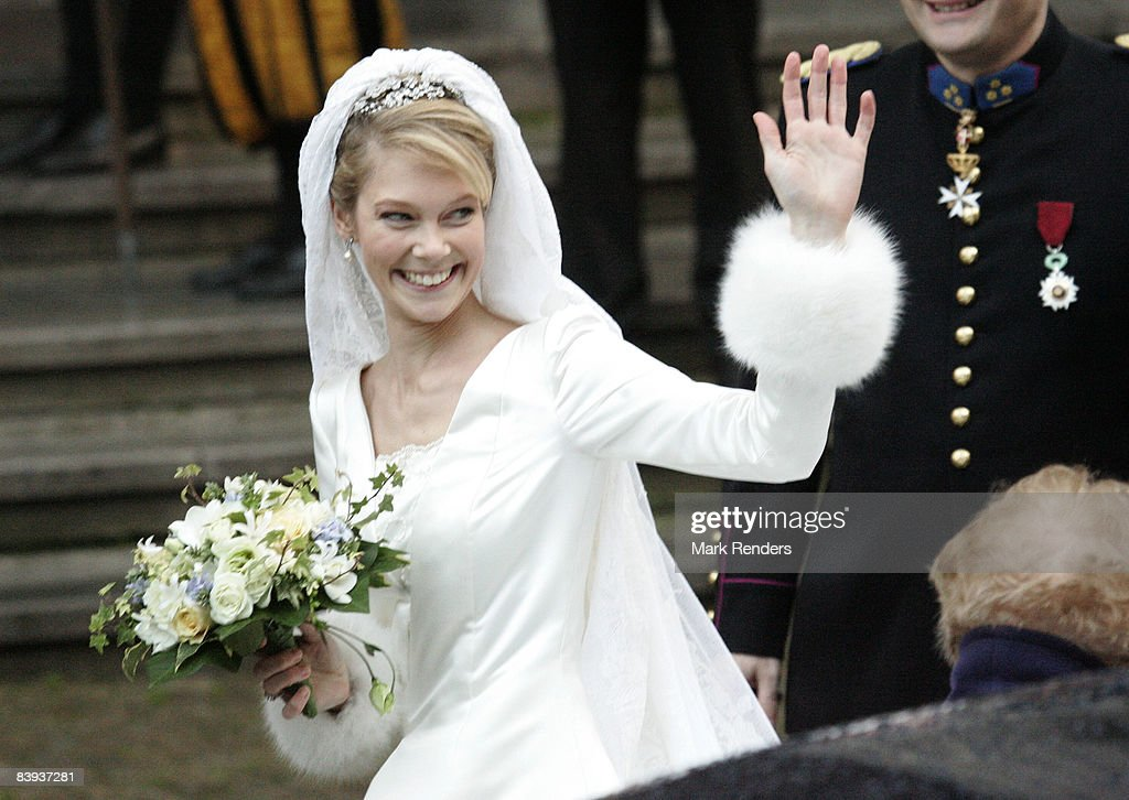 Archduchess Marie-Christine of Austria arrives at Saint Rombouts Cathedral to wed Count Rodolphe of Limburg-Stirum on December 06 2008 in Mechelen Belgium.