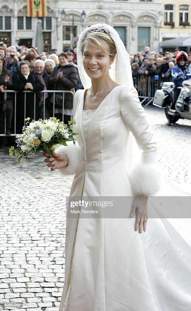 Archduchess Marie-Christine of Austria arrives at the townhall to attend her civil wedding to Count Rodolphe of Limburg-Stirum on December 06 2008 in Mechelen, Belgium.