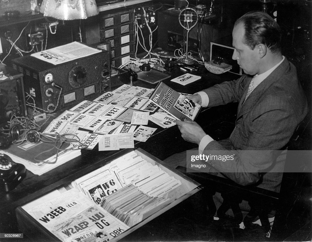 Archduke Anton of Habsburg operating an amateur radio. Austria. Photograph. 1937. : News Photo