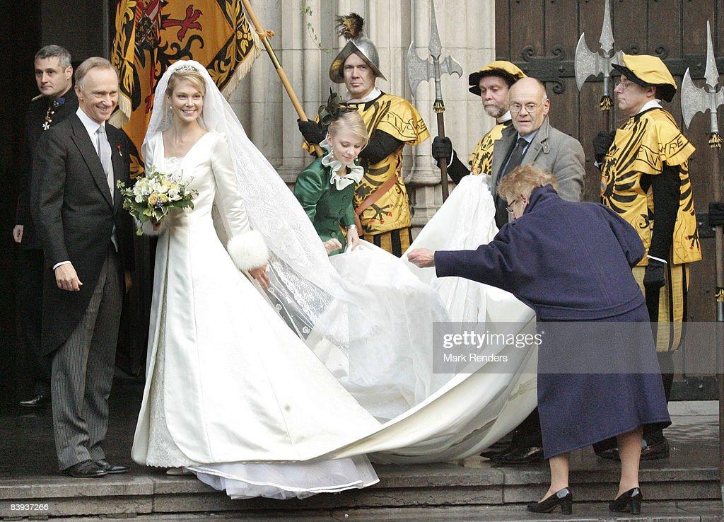 Archduchess Marie-Christine Of Austria & Rodolphe Of Limburg-Stirum We : News Photo