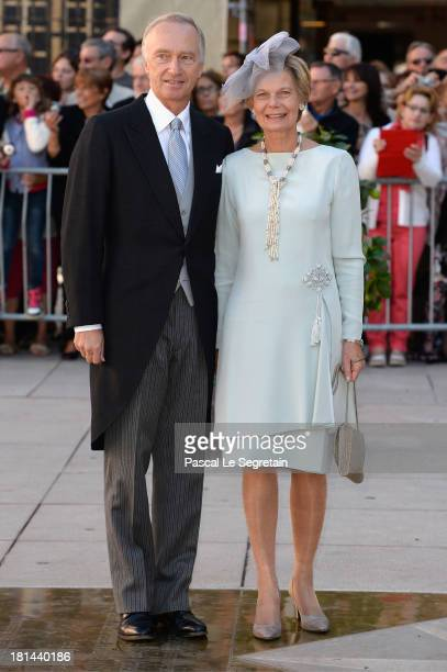 Archduke CarlChristian Of Austria and Archduchess Marie Astrid of Austria attend the Religious Wedding Of Prince Felix Of Luxembourg and Claire...