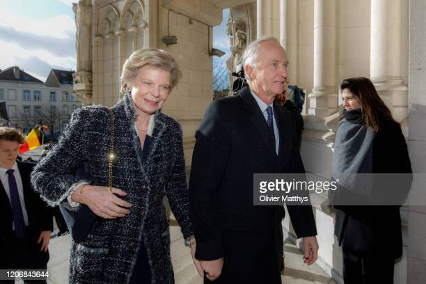 Archduke Christian of Austria and Archduchess Marie Astrid of Austria attend the Annual Memorial Mass for deceased members of the Royal Family at the...