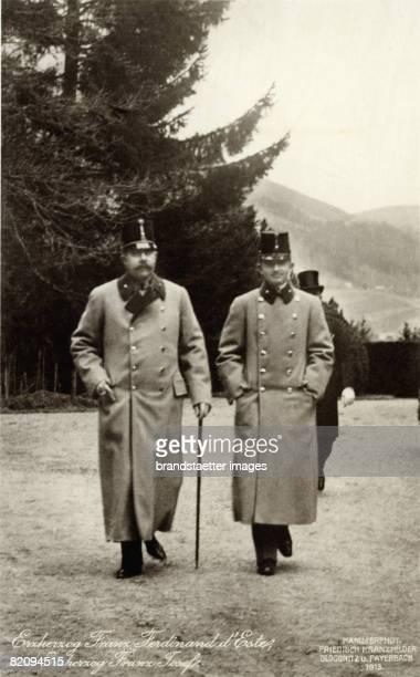 Archduke Franz Ferdinand and archiduke Carl Franz Joseph , Photograph by Friedrich Kranzfelder, Gloggnitz and Payerbach, winter 1913...