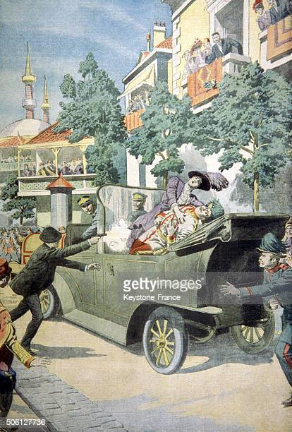 Archduke Franz Ferdinand and his wife assassinated in Sarajevo Yugoslavia on June 28 1914