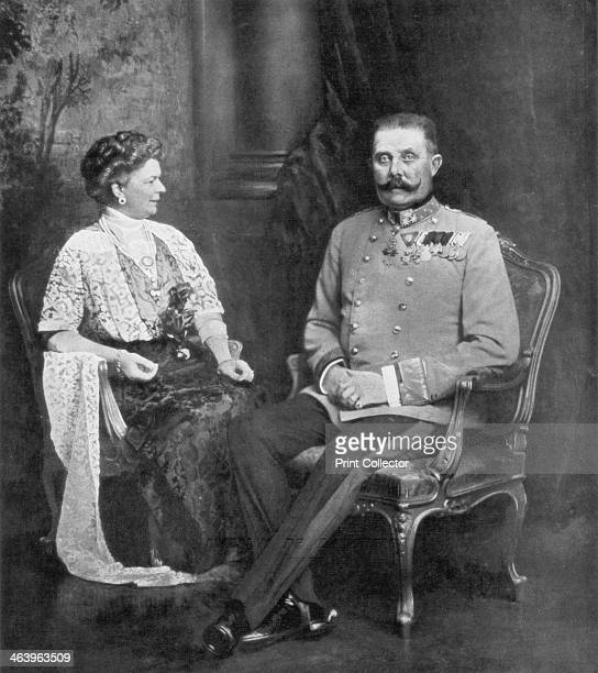 Archduke Franz Ferdinand of Austria and Sophie Duchess of Hohenberg 1914 The Archduke Franz Ferdinand heir to the Austrian throne and the Archduchess...