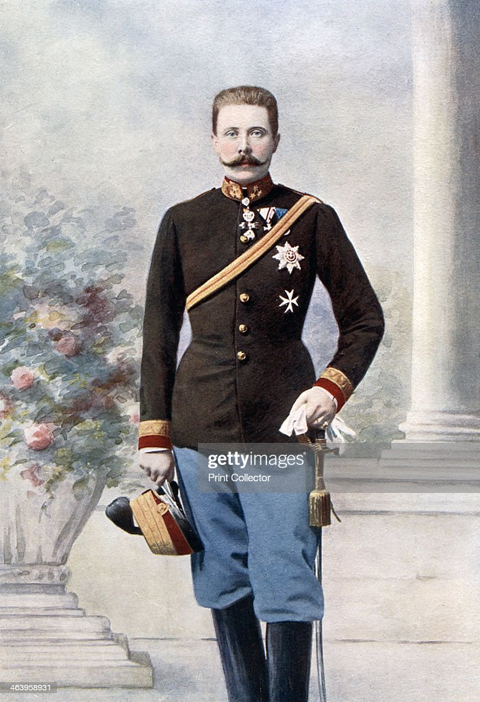 Archduke Franz Ferdinand of Austria, late 19th-early 20th century. : News Photo
