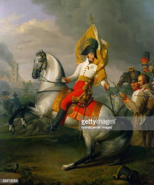 Archduke Karl , victor of the battle of Aspern against Emperor Napoleon I, brother of Emperor Franz I . [Erzherzog Karl , Sieger der Schlacht von...