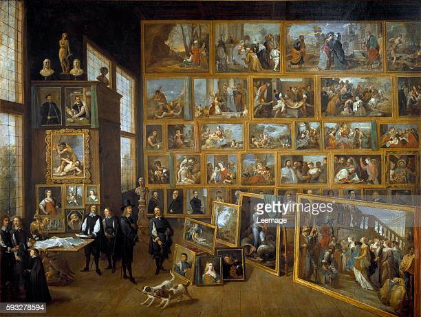 Archduke Leopold Wilhelm in His Picture Gallery in Brussels by David Teniers II Oil on canvas, 123 x 163 cm - Kunsthistorisches Museum,...