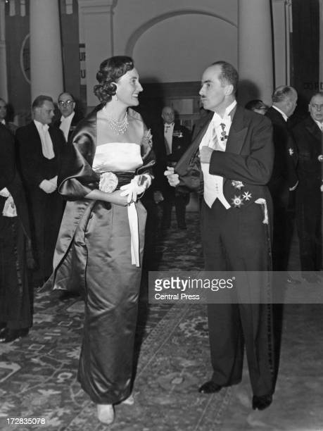 Archduke Otto of Austria and Alix, Princess Napoleon, attend a banquet given by the Belgian government at the Royal Palace of Brussels, 14th December...