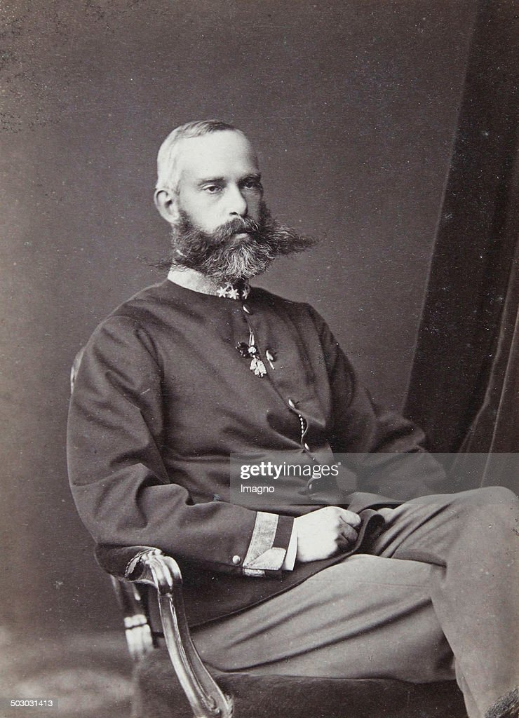 Archduke Rainer Of Austria (1827-1913) Popular Member Of The Imperial Family; Patron Of Art And Science And The Supreme Commander Of The Imperial Landwehr. About 1870. Photograph By Adèle. Vienna [Graben 19 Hotel Müller And Prater Strasse 18 Hotel De L'E : News Photo