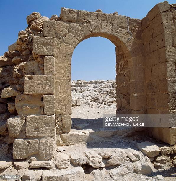 Arched entrance ancient Masada natural fortress Israel