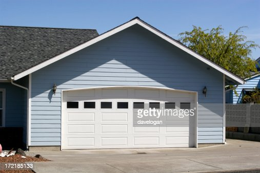 Arched Garage Door Opening Stock Photo Getty Images
