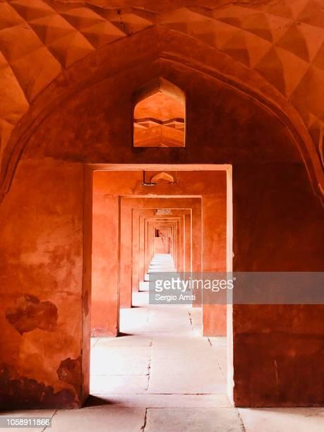 Arched hallway at Taj Mahal