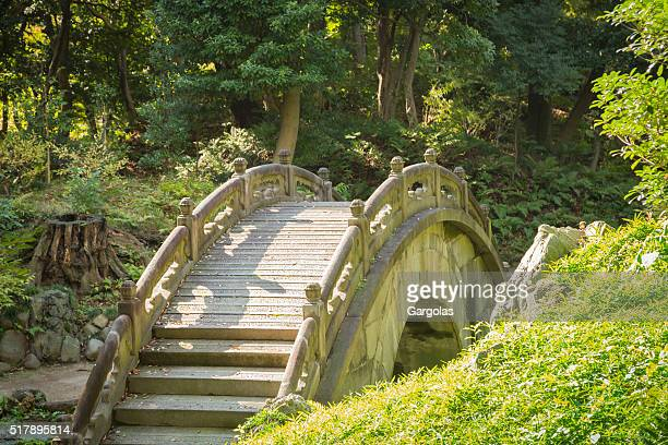 Arched Stone bridge in Japanese Garden, Koishikawa Korakuen, Tokyo