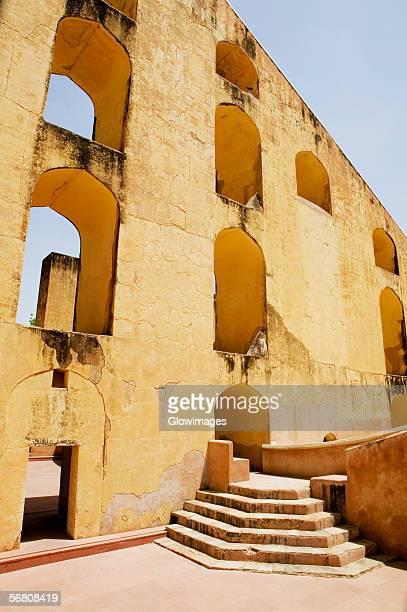 Arched window on the wall, Jantar Mantar, Jaipur, Rajasthan, India