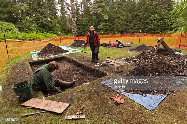 Archeological dig.