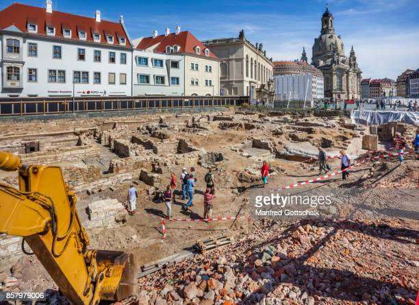 Archeological excavations old city of Dresden