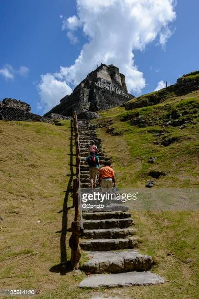 archeological site of the mayan ruins of xunantunich - ogphoto stock pictures, royalty-free photos & images