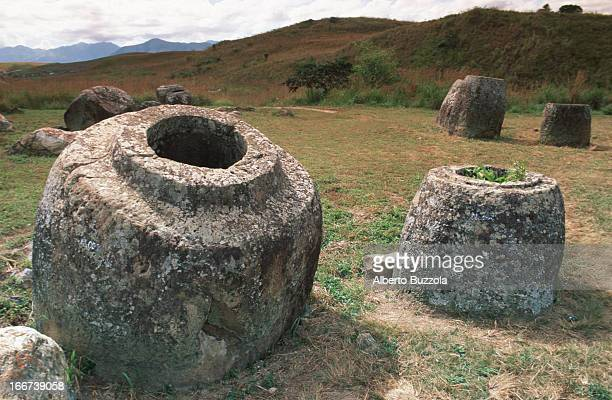 Archeological site of Thong Hai Hin where about 250 large jars weighing more then 600 Kilos were laid centuries ago The origin of these jars is still...