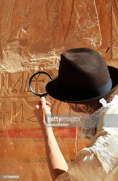 archeologist - hieroglyphics stock pictures, royalty-free photos & images