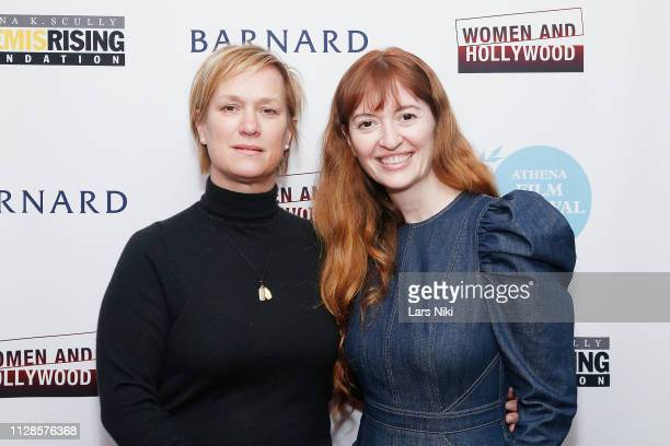 Archer Gray president of production Anne Carey and writer and director Marielle Heller attend the 2019 Athena Film Festival awards ceremony at the...
