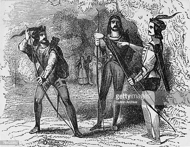 Archery in the Middle Ages circa 1300 A 19th century engraving