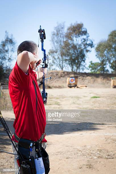 archery - curved arrows stock pictures, royalty-free photos & images