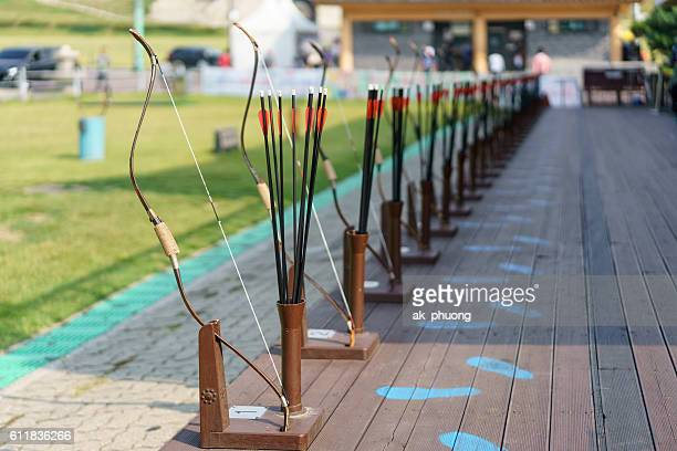 archery - longbow stock photos and pictures