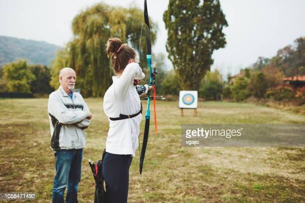 archery training - archery stock pictures, royalty-free photos & images
