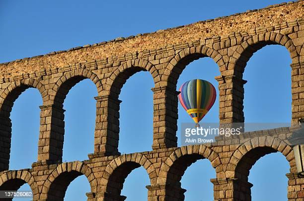 Arches and hot air balloon