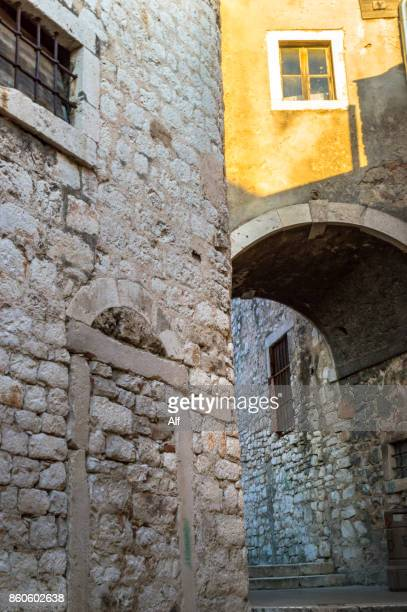 Arches and passageway in the old town of Sibenik, Croatia