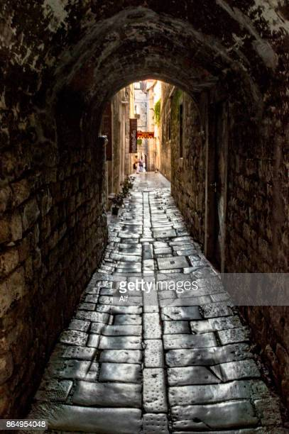 Arches and passageway in the old town of Split, Croatia