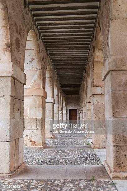 arches by Santa Clara Square in Lerma Burgos Castille Spain