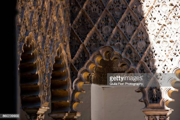 Arches in the Alcazar Palace in Seville