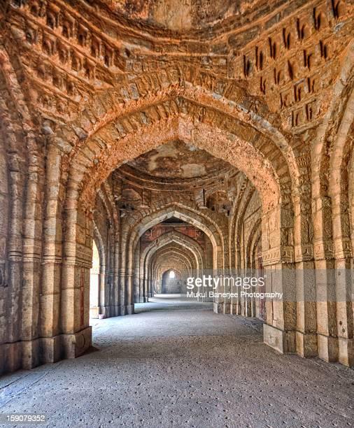 Arches inside Jamali Kamali Mosque, Mehrauli, New