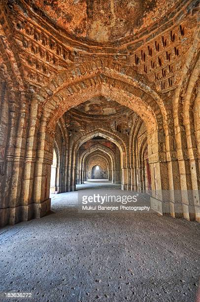 Arches inside Jamali Kamali Mosque, New Delhi