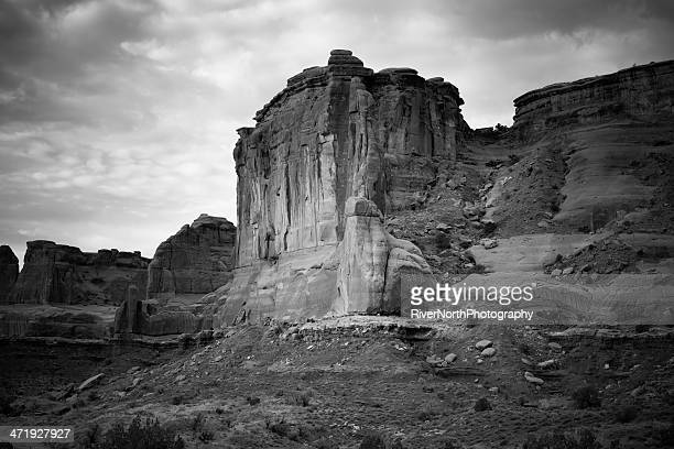 arches national park, utah - rock strata stock pictures, royalty-free photos & images