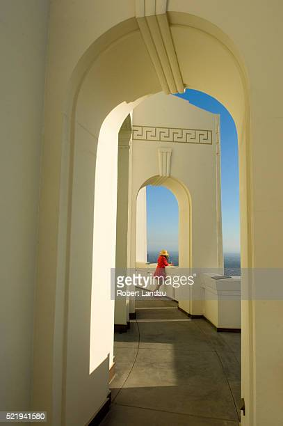 arches of griffith observatory - griffith park stock pictures, royalty-free photos & images