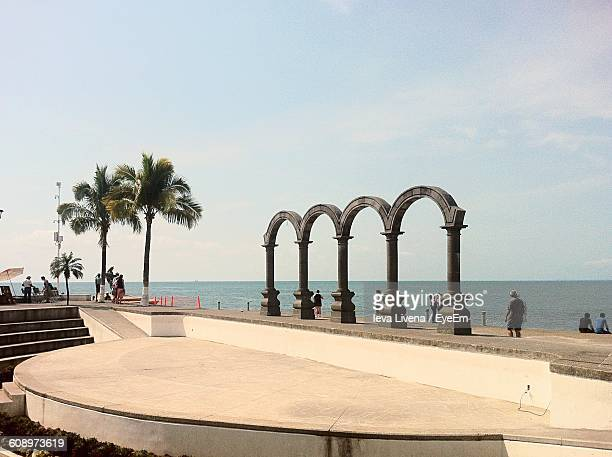 Arches Of Malecon Against Sky
